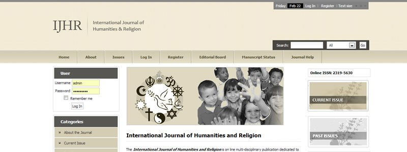 International Journal of Humanities & Religion
