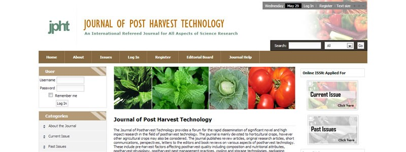 Journal of Post Harvest Technology